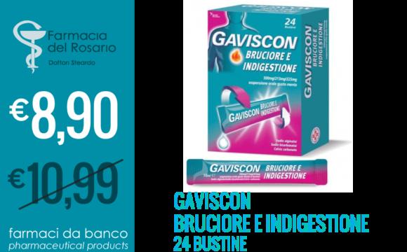 GAVISCON for heartburn therapy  24 sachets
