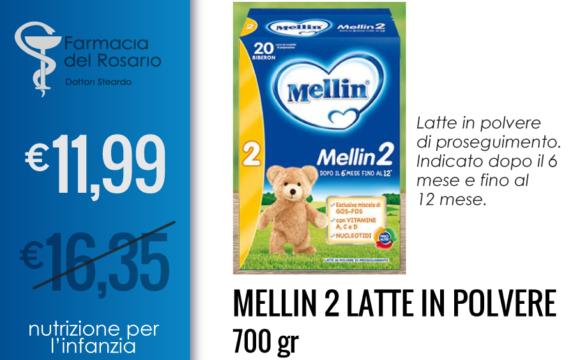 Mellin 2 latte in polvere nutrizione per infanzia
