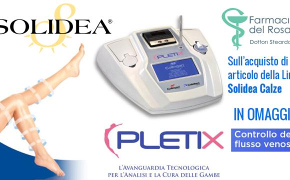 Solidea calze+pletix controllo del flusso venoso