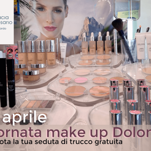 18 aprile: ritorna in farmacia l'appuntamento con Dolomia make up